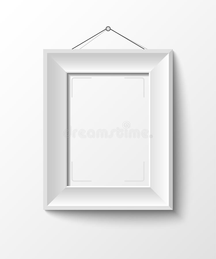 White frame for your photo or picture. 10 eps royalty free illustration