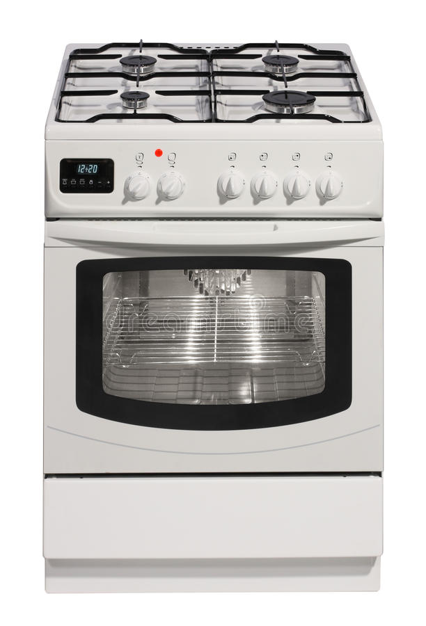 White free standing cooker stock photos