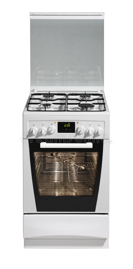 White free standing cooker royalty free stock image