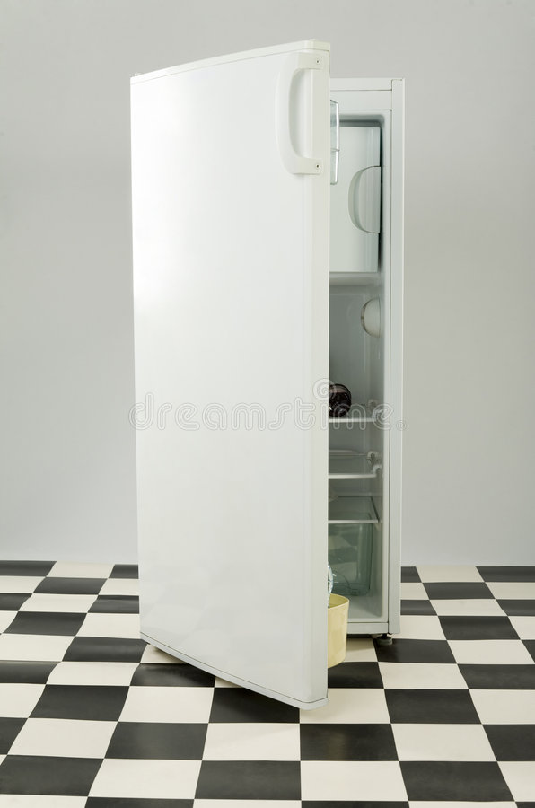 White fridge royalty free stock image