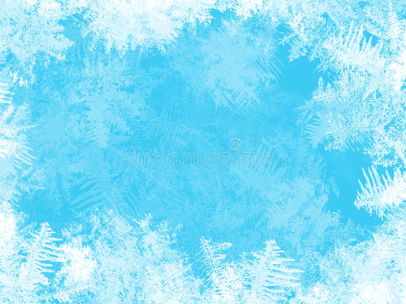 WHITE FROST ON THE WINDOW royalty free illustration