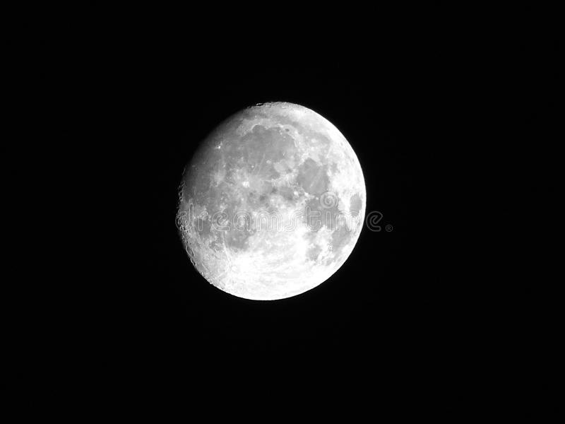 White Full Moon stock photo