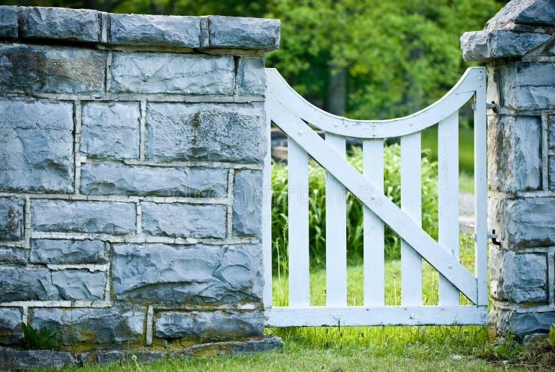 White Garden Gate royalty free stock photos