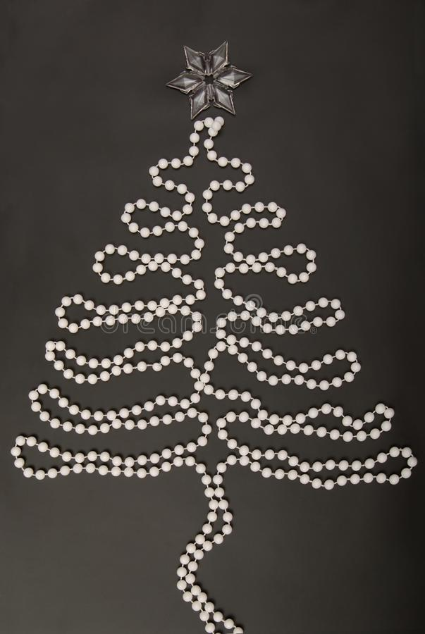 White garland on black stock photography