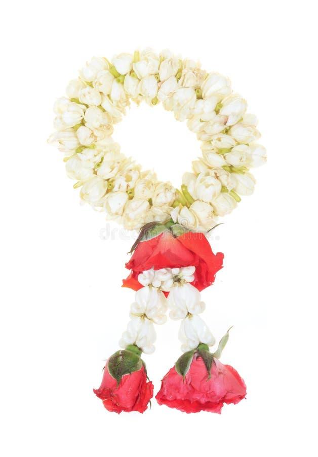 Download White Garland Festoon For Worship Buddha In Thaila Stock Photo - Image: 20358294