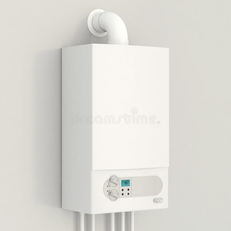 Free White Gas Boiler. Royalty Free Stock Images - 34315269