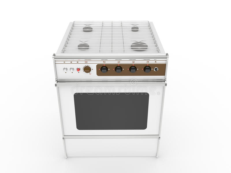 Download White gas cooker stock illustration. Image of equipment - 20186747