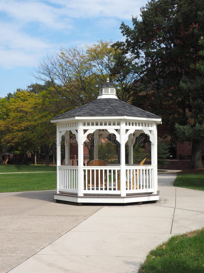 White gazebo stock photos