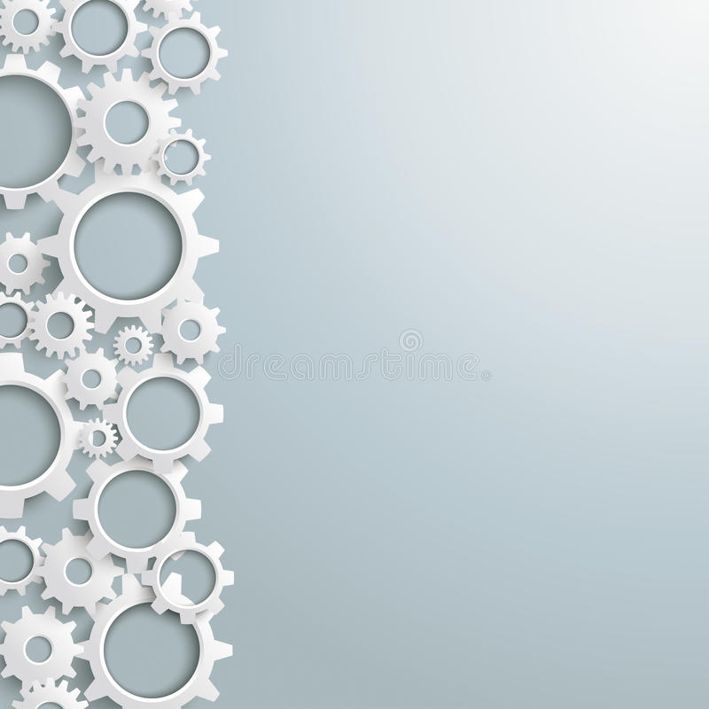 Free White Gears Left Side PiAd Royalty Free Stock Photography - 34053787