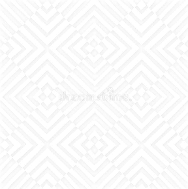 White Geographic Shape Background. With Maze like shapes on paper great for web design royalty free illustration
