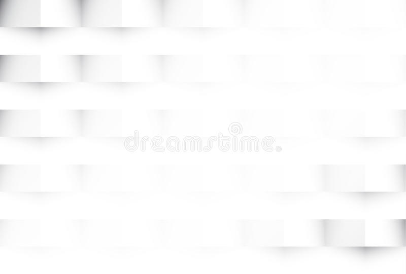 White geometric abstract texture background stock illustration