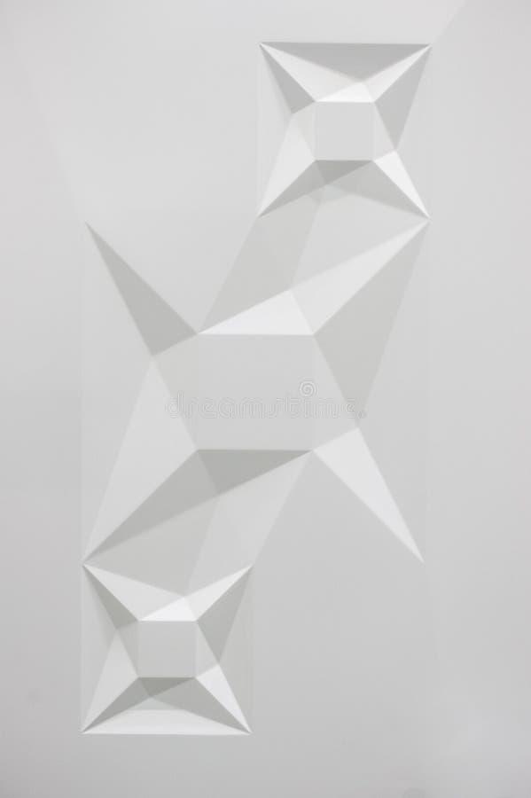 White geometric 3d texture pattern. Vertical photo stock image