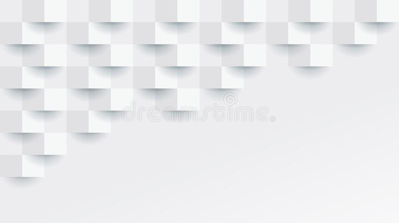 White geometric pattern, abstract background template. vector illustration