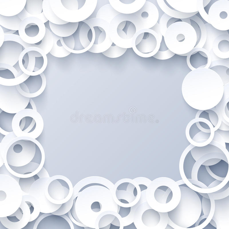3d white paper geometric abstract background stock illustration