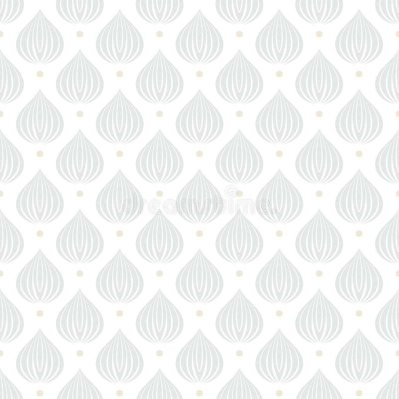 White geometric texture with drops. White geometric texture with drop like shapes in silver and gold dots on white for Christmas and holiday decor or wedding vector illustration