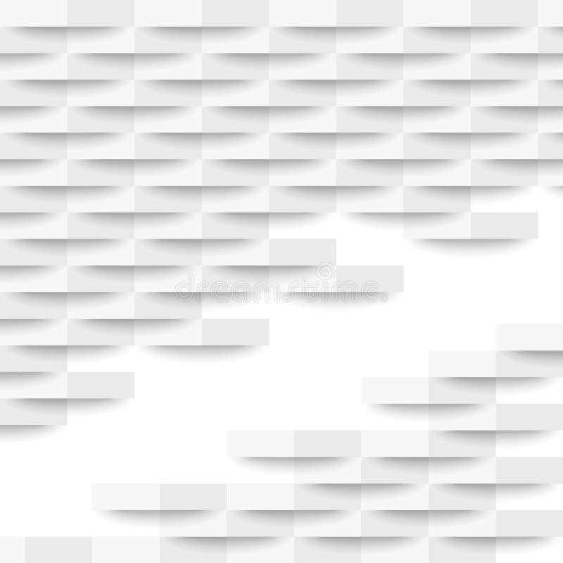 White geometric texture. Vector background stock illustration