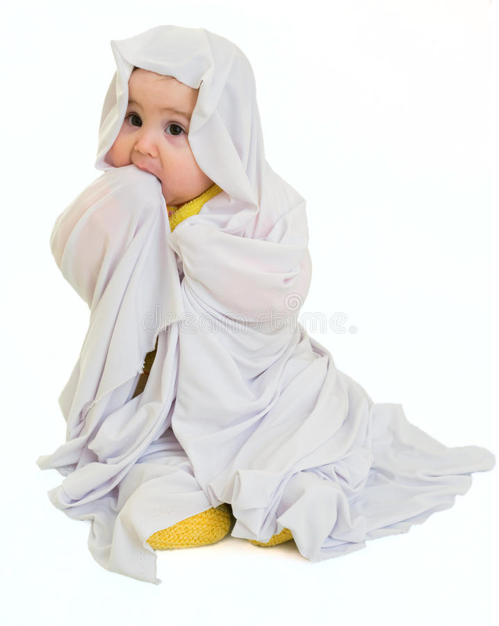 Free White Ghost Baby Girl Royalty Free Stock Image - 13680566