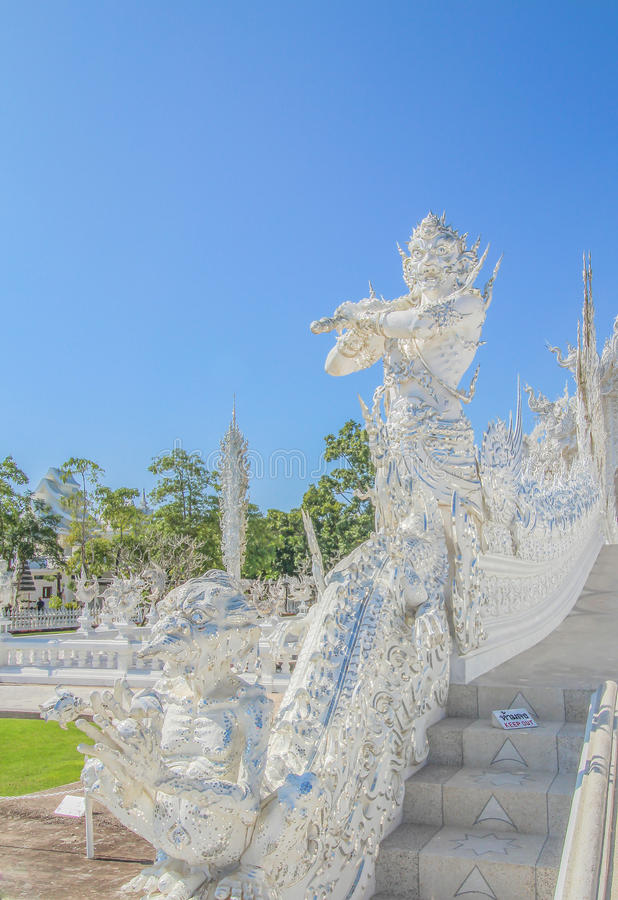 The white giant at Wat rongkhun stock photo