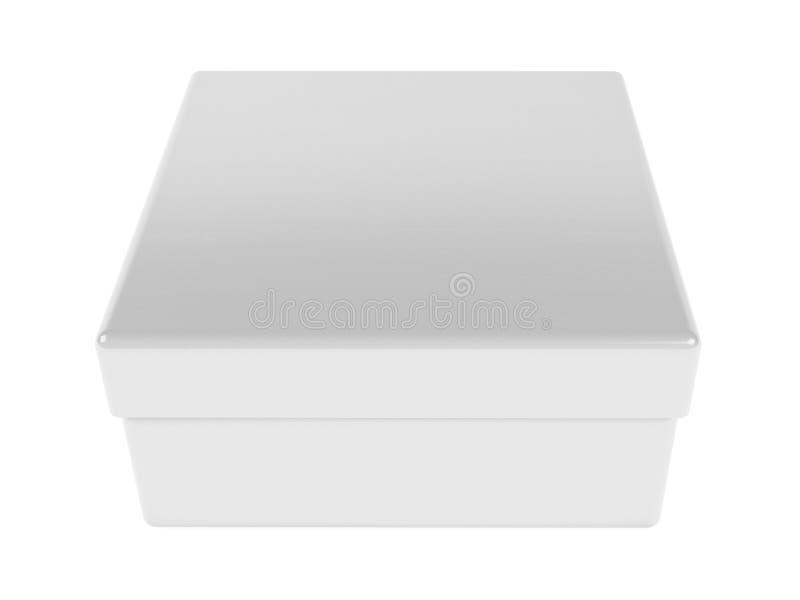 White gift box. 3d rendering illustration isolated. On white background royalty free illustration