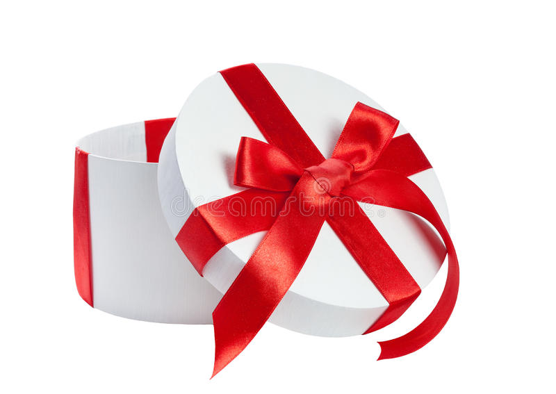 Download White Gift Box With Red Ribbon Stock Image - Image: 28390911