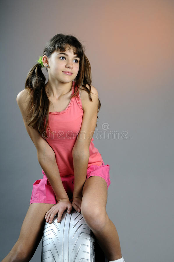 Teen Girl Posing Silver Tires Photos Free Royalty Free Stock Photos From Dreamstime