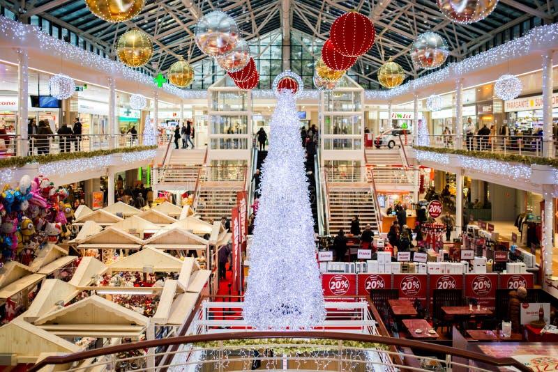 White Glass Christmas Tree royalty free stock photo