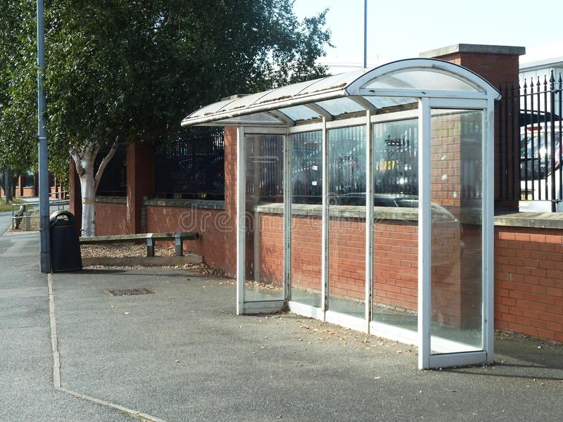 Empty deserted bus bus shelter royalty free stock photos