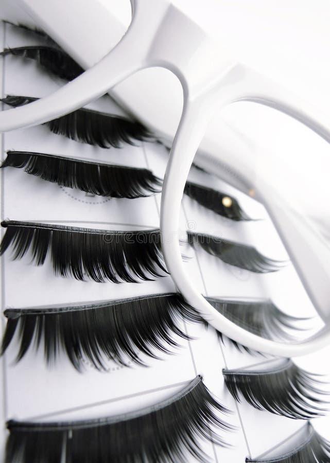 Download White Glasses And False Eyelashes Stock Photo - Image: 19557052