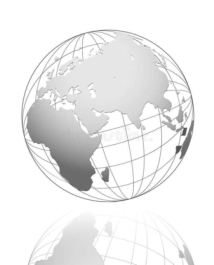 White global business concept vector design. White global business concept vector design stock illustration
