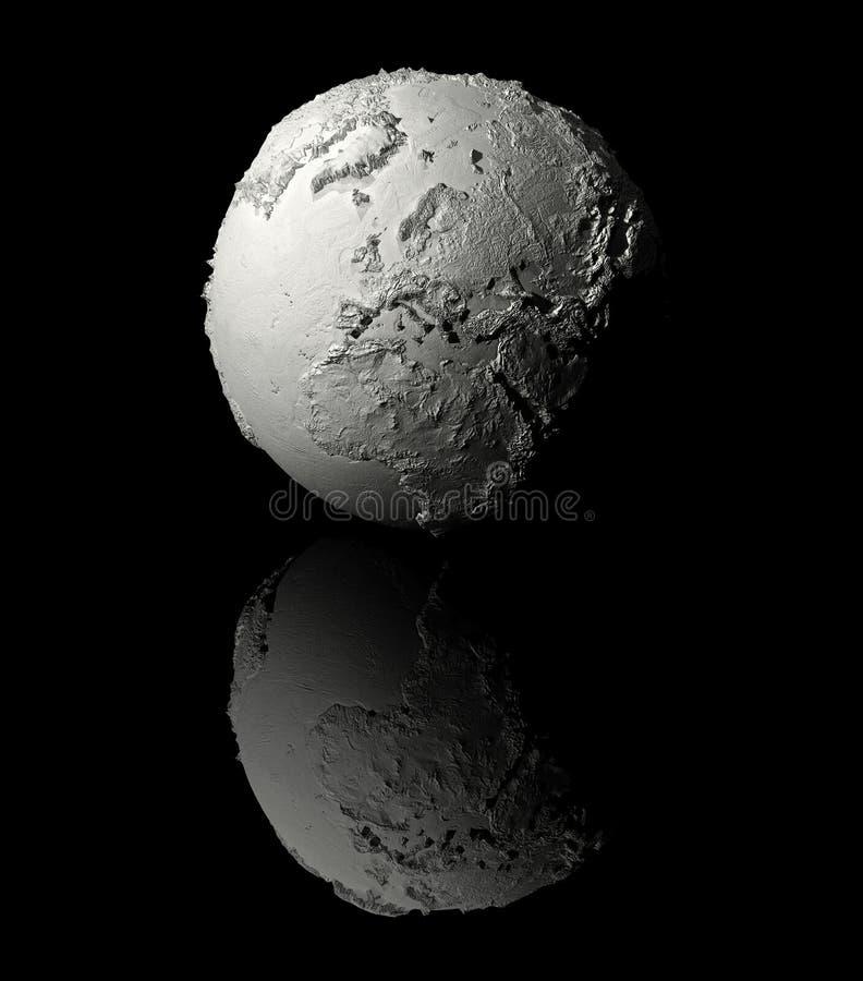 Download White Globe - Europe stock illustration. Image of gypsum - 19791668