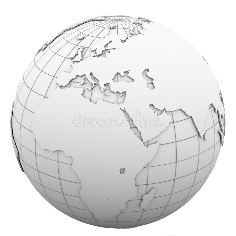 Download White globe stock illustration. Image of geography, isolated - 30406889
