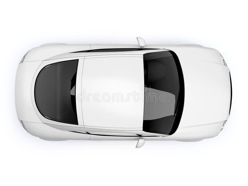 White glossy auto top view royalty free stock photo