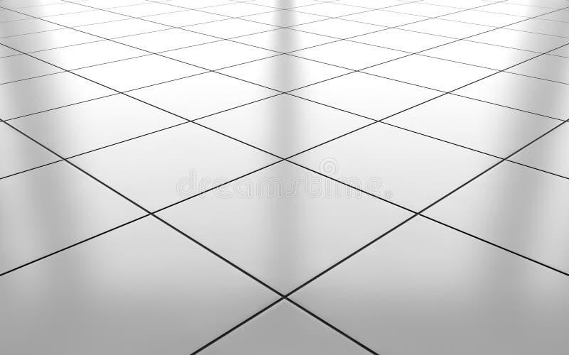Download White Glossy Ceramic Tile Floor Background. 3d Rendering Stock  Illustration   Illustration Of Home