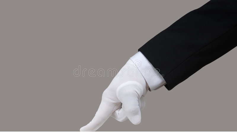 White Glove Test royalty free stock images