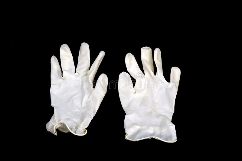 Download White Gloves Isolated On Black Background Royalty Free Stock Photo - Image: 1708665
