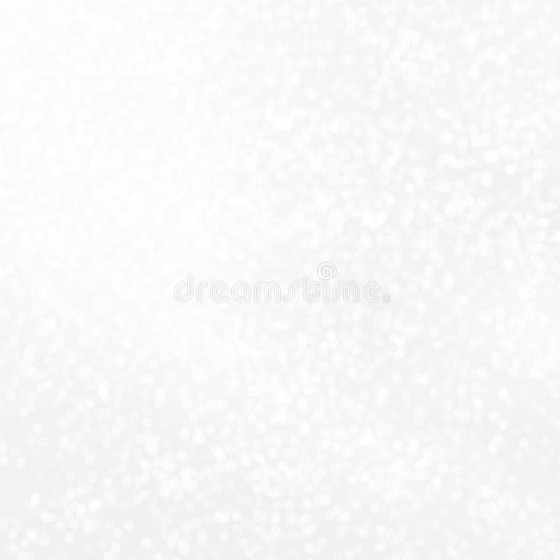 White glowing background with sparkles. Vector design for your holiday cards, flyers, brochures, posters, banners etc. Christmas and New Year design royalty free illustration