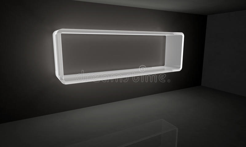 Download White glowing Frame stock illustration. Illustration of glowing - 28812853