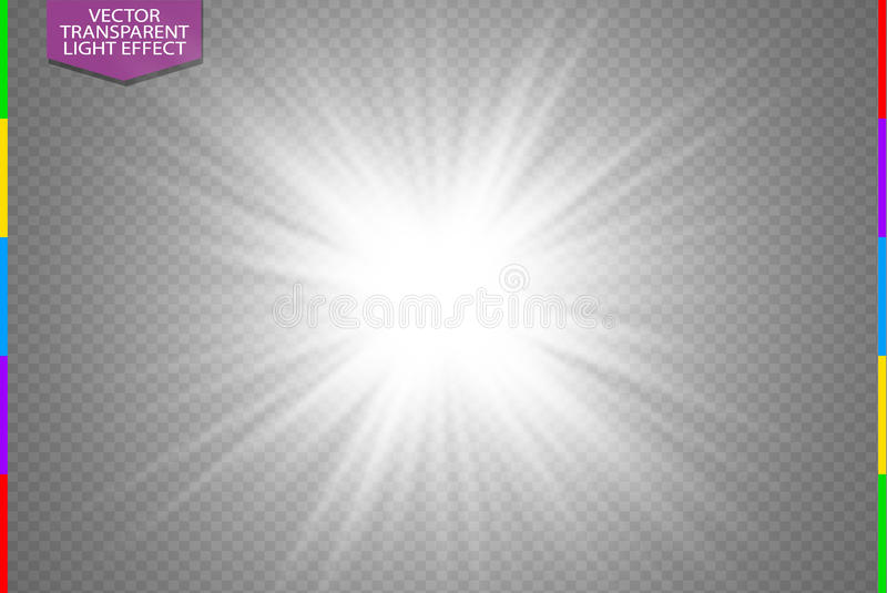 Download White Glowing Light Burst Explosion On Transparent Background Vector Illustration Transparency In Additional