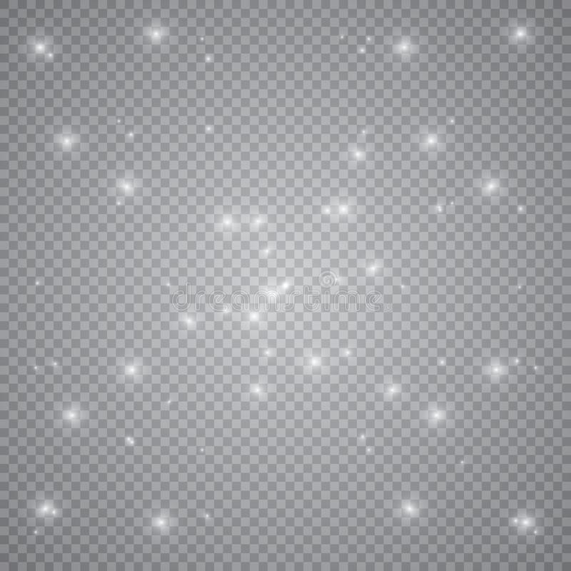 White glowing light burst explosion with transparent. Vector illustration for cool effect decoration with ray sparkles. Bright sta stock photo