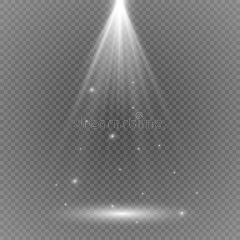 White glowing light burst explosion with transparent. Vector illustration for cool effect decoration with ray sparkles. Bright sta stock photos