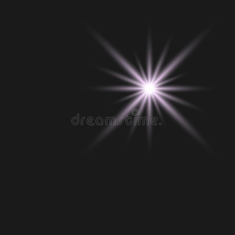 White glowing light burst explosion with transparent. Vector illustration for cool effect decoration with ray sparkles. Bright sta vector illustration