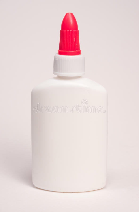 White Glue Bottle stock photo