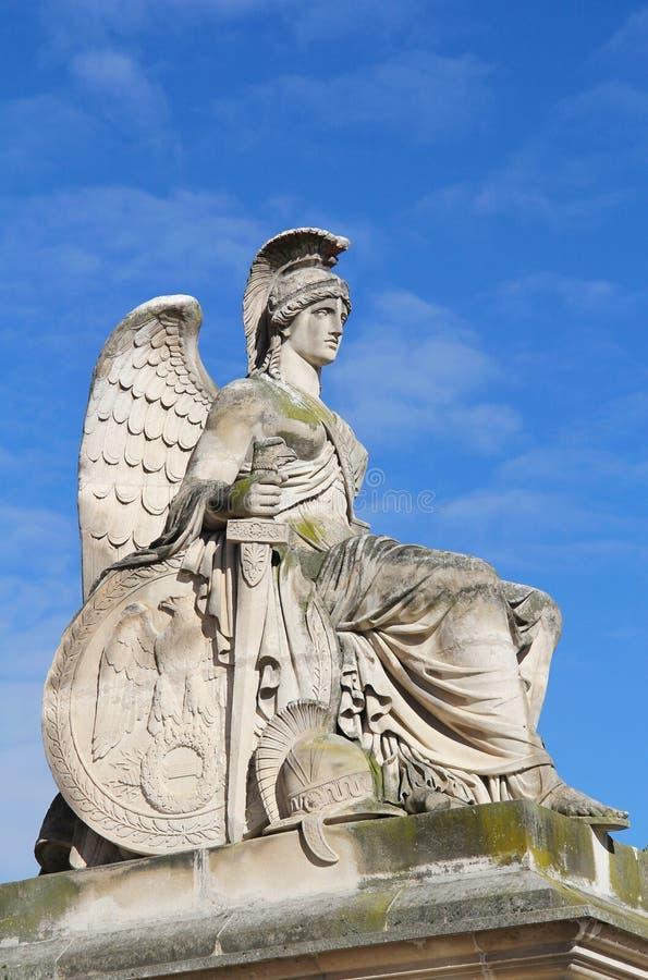 White Goddess Statue In Louvre Garden Stock Image Image