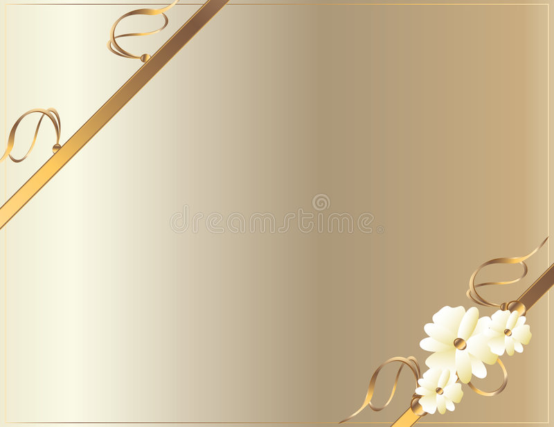 White gold diagonal flower design vector illustration