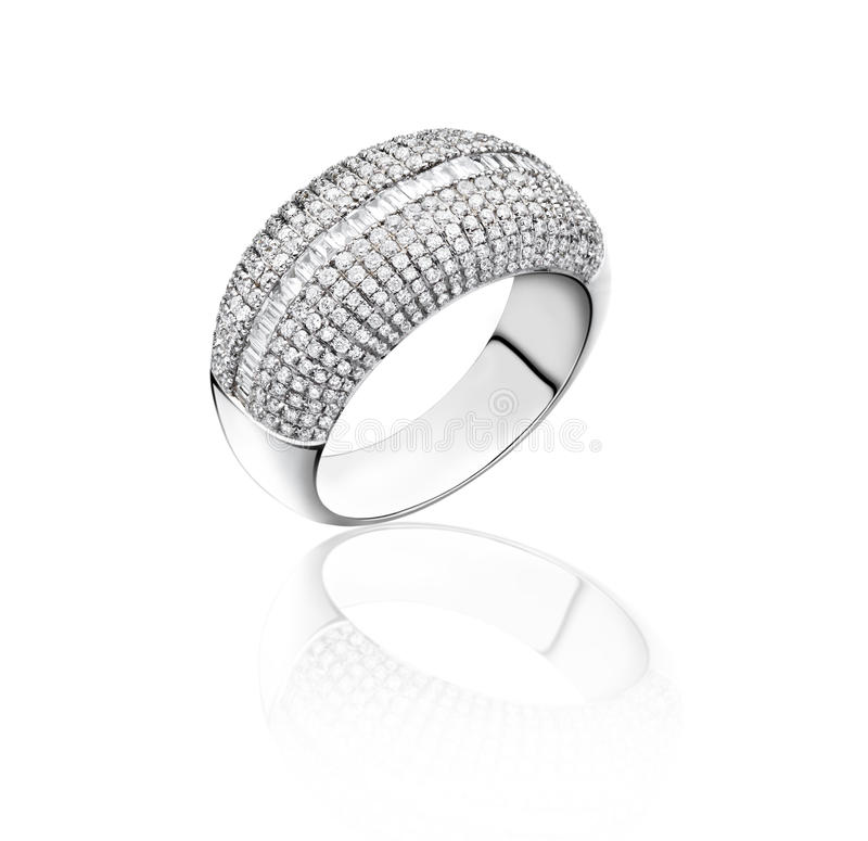 Download White gold diamond ring stock image. Image of accessory - 23734299
