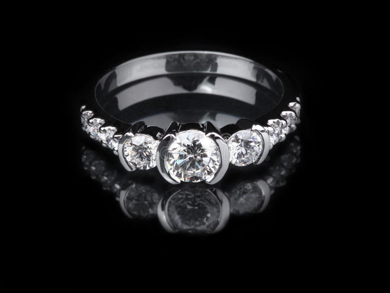 Download White gold diamond ring stock image. Image of gold, style - 31919599