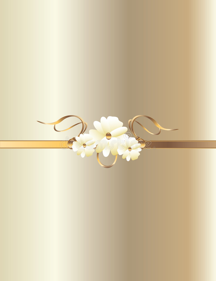 White gold flower background vector illustration