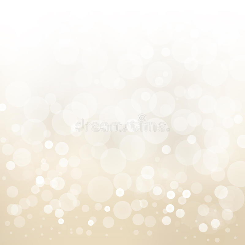 White gold light background abstract design blur circle b stock illustration