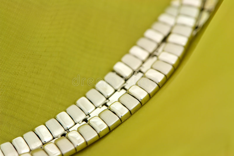 White gold necklace royalty free stock image