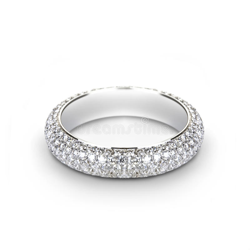 White gold wedding ring for her royalty free stock photos